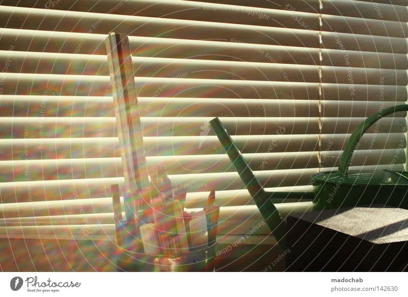 my desktop Shadow Line Graphic Parallel Wall (building) Summer Gloomy Venetian blinds Window Limited Chic Light Sunbeam Brilliant Multicoloured Pen Moody