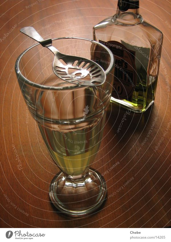 Green Fairy? Absinthe Spoon Wood Alcoholic drinks Glass Bottle Vermouth