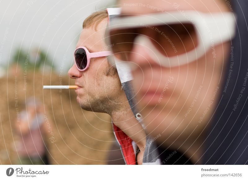 haste glasses uff Sunglasses Easygoing Style Smoking Intoxicant Dependence Iconic Retro Blur Silhouette Visitor Portrait photograph Youth (Young adults)