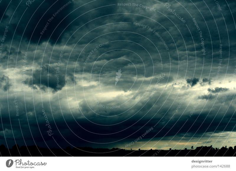 Sky Green Summer Clouds Dark Gray Rain Wind Weather Gale Thunder and lightning Storm Bad weather Meteorology Raincloud
