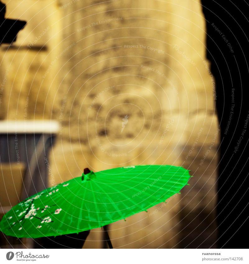 Green Summer Flower Blossom Blossoming Protection Umbrella Monument Jewellery Sunshade Craft (trade) Shield Addition