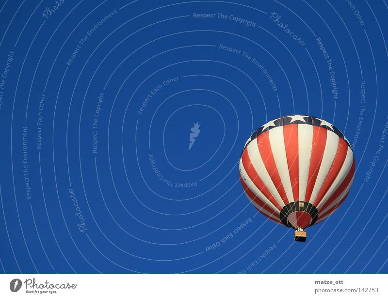 Sky Leisure and hobbies Aviation USA Americas Hot Air Balloon American Flag