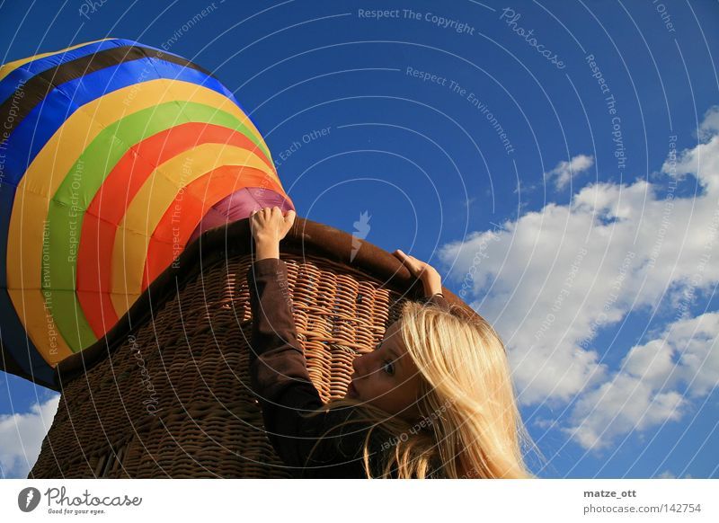 I am falling Hot Air Balloon Airplane Driving Woman Dangerous Aviation USA flag Threat danger