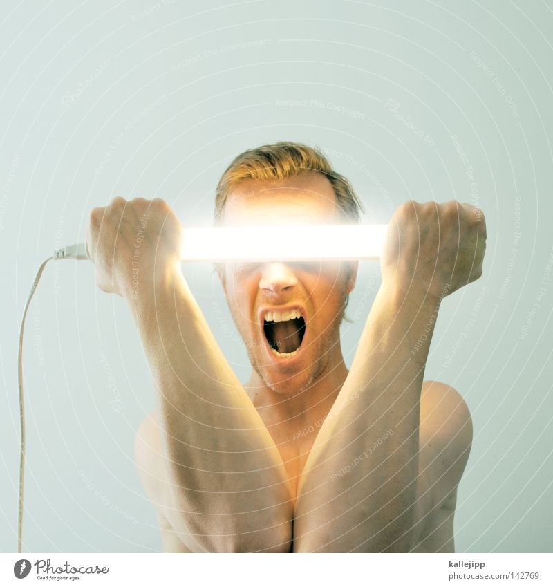Human being Man Hand Naked Lamp Fear Arm Electricity Future Eyeglasses To hold on Discover Scream Sunglasses Neon light