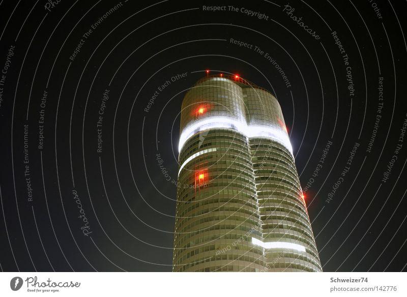 High-rise Modern Skyline Vienna Night shot
