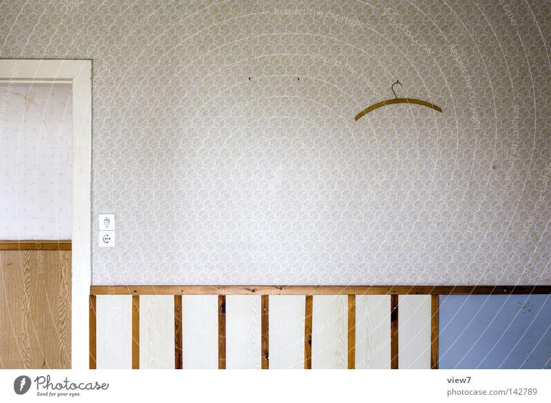hanger policy Wall (building) Wallpaper Pattern Interior design Arrangement Furniture Door Wood Doorframe Old building Hanger Detail Second-hand Utilize Forget