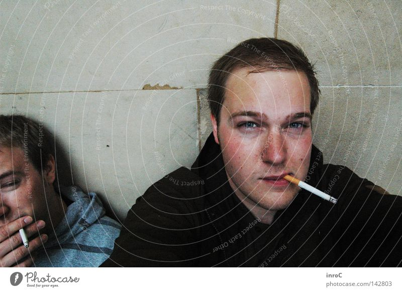 Man Relaxation Adults Break Smoking Stress Cigarette Exhaustion