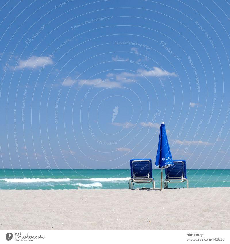 Water Beautiful Vacation & Travel Summer Ocean Beach Relaxation Sand Coast Weather Waves Horizon Island USA Sunshade Turquoise