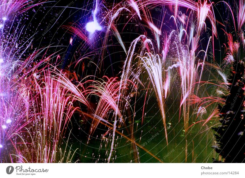 Fireworks 2001/02 Night New Year's Eve Light Long exposure Sky Firecracker Colour