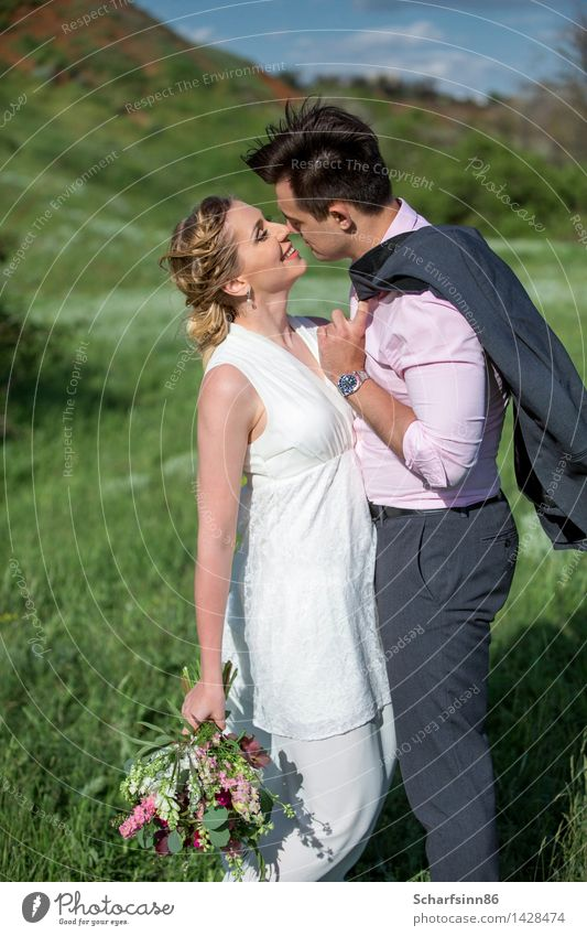 bride and groom, wedding, boho Human being Woman Man Beautiful Summer Joy Mountain Adults Life Love Emotions Laughter Lifestyle Moody Couple Leisure and hobbies