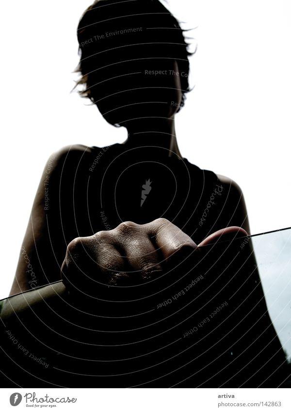 hand Hand Glass Portrait photograph Woman Italy Silhouette Black women Dark