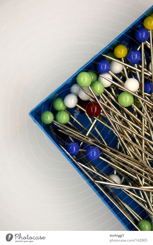 The hay in a pile of needles Needle Pierce Sharp Glass Sphere Round Sharp-edged Thorny Point Multicoloured Heap Crate Box