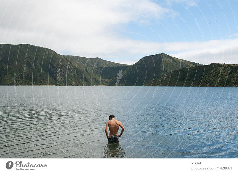 Are Males naked in lake