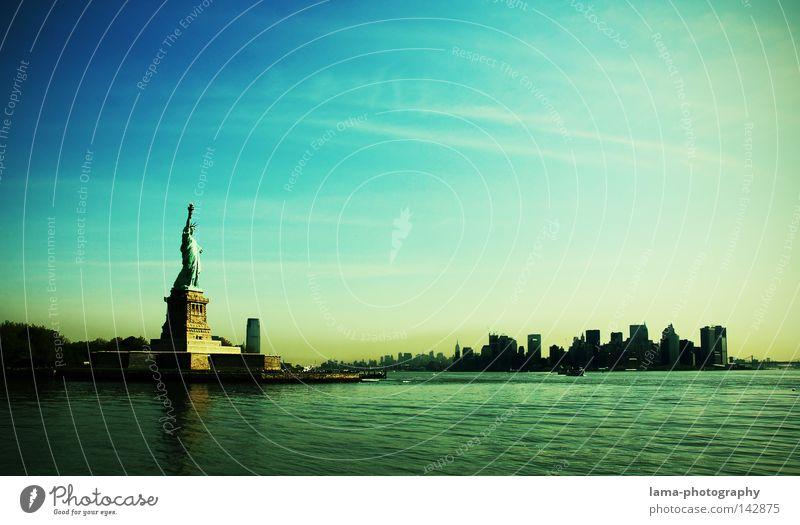 I'm lovin' it New York City Manhattan Downtown Americas USA Art Landmark Statue Lady Symbols and metaphors Freedom France Tall Patina Brooklyn Bridge East River