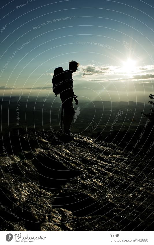 Man Nature Sky Sun Blue Calm Black Clouds Loneliness Yellow Far-off places Sports Dark Playing Mountain Stone