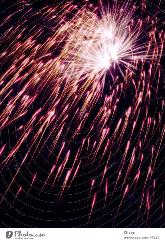 Sky Red Black Lamp Blaze New Year's Eve Firecracker Explosion Spark