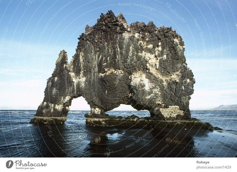 Hvítserkur Iceland Ocean Coast Hvitserkur Rock Stone bizarre monster
