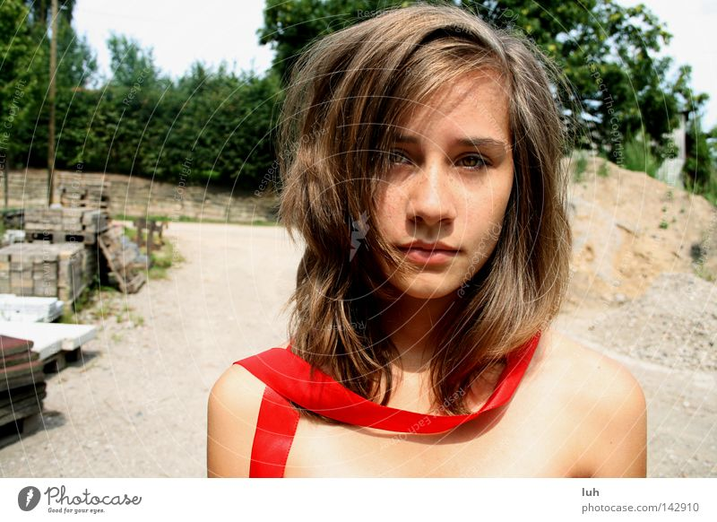 Woman Child Youth (Young adults) Beautiful Summer Young woman Red Adults Face 13 - 18 years Adventure Beauty Photography Facial expression Brunette Delightful