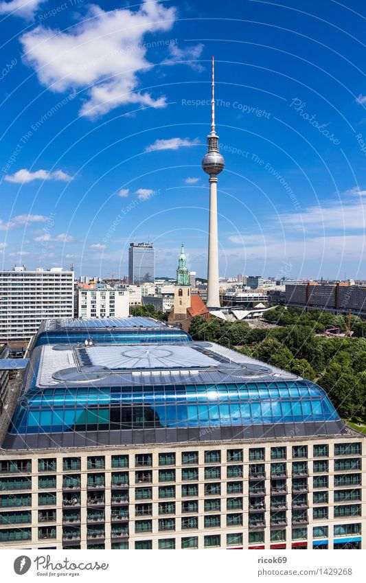 View of Berlin Vacation & Travel Tourism House (Residential Structure) Clouds Tree Town Capital city Downtown Manmade structures Building Architecture