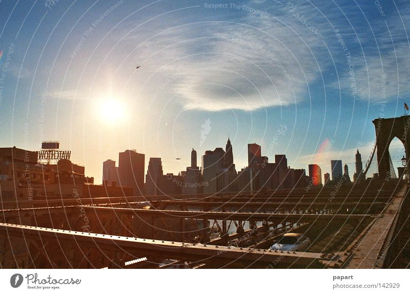 Sky City Sun Summer Calm Life Wall (building) Horizon Glass Facade Concrete High-rise Large Transport Bridge Lifestyle