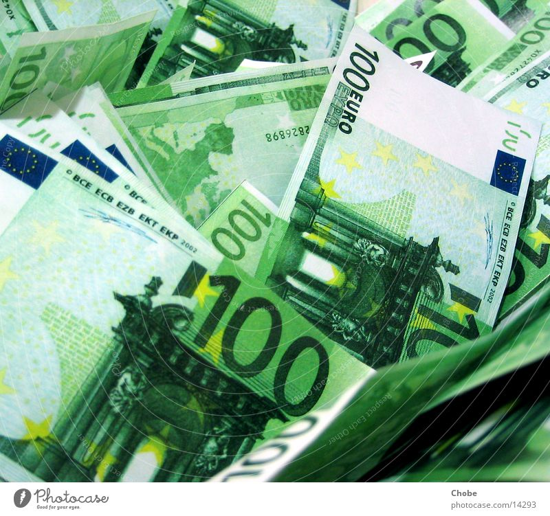 money, money, money Money Bank note Luxury Rich Heap Green Euro monet hundred