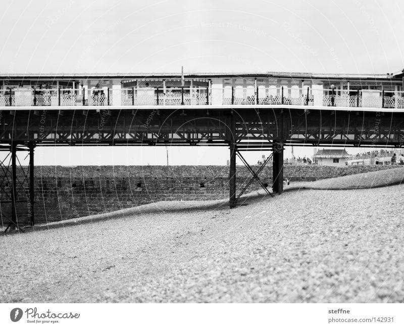 Brighton Pier Jetty England Beach Sea bridge Tourist Vacation & Travel Ocean Gravel Bridge Landmark Monument