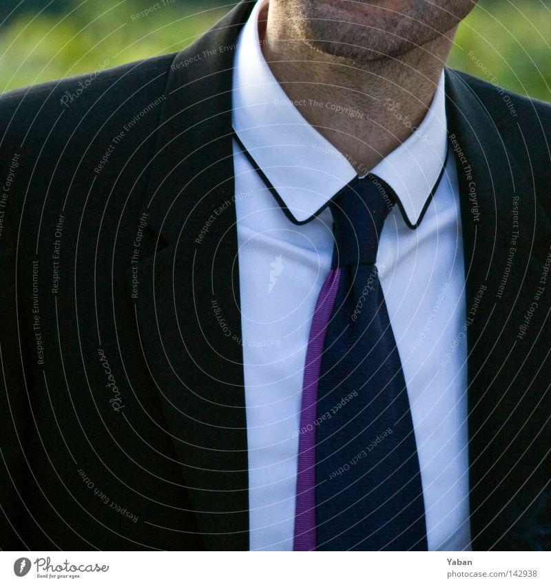 Man White Black Style Fashion Work and employment Elegant Success Modern Shirt Suit Noble Tie Chic Tasty Unshaven