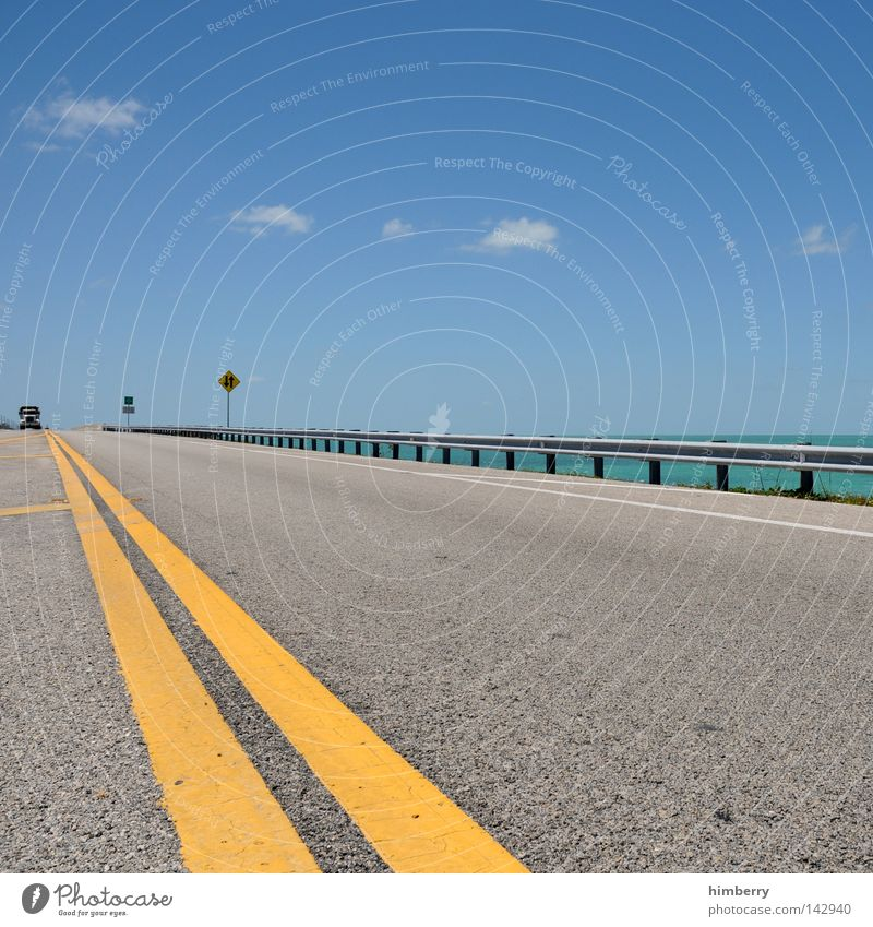 Sky Ocean Summer Beach Vacation & Travel Clouds Street Worm's-eye view Line Coast Road traffic Weather Transport Bridge Dangerous Travel photography