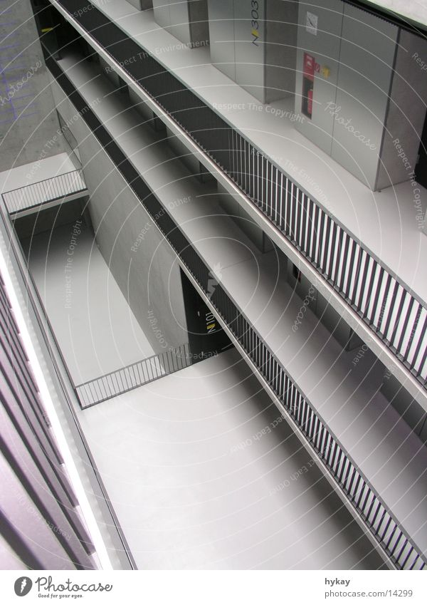 Gray Architecture Concrete Steel Story Handrail
