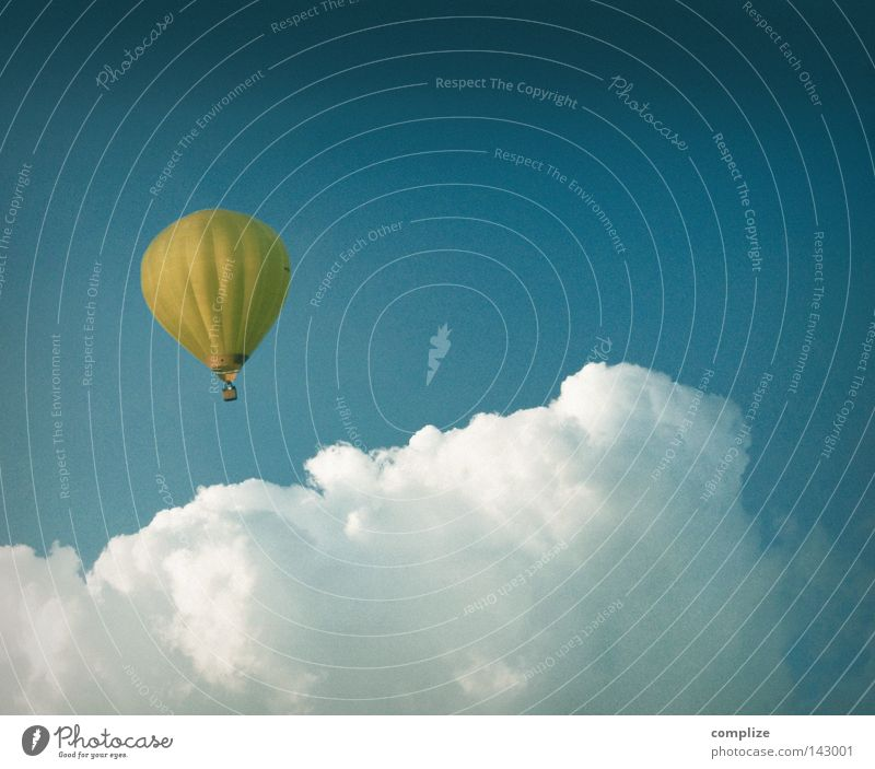 Sky Vacation & Travel Clouds Far-off places Leisure and hobbies Trip Flying Adventure Aviation Hot Air Balloon Hover Floating Balloon flight Above the clouds Bright background
