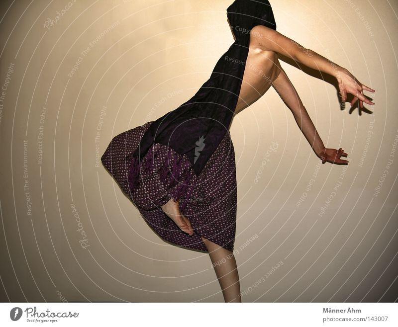 Woman Flower Feminine Wall (building) Movement Jump Legs Feet Power Dance Back Arm Fingers Force Clothing Posture