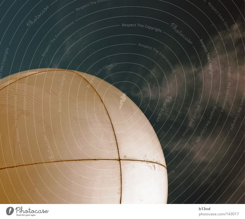 The white eye Clouds Round White Radar station Navigation Watercraft Sky Sphere Ball Smoothness Blue
