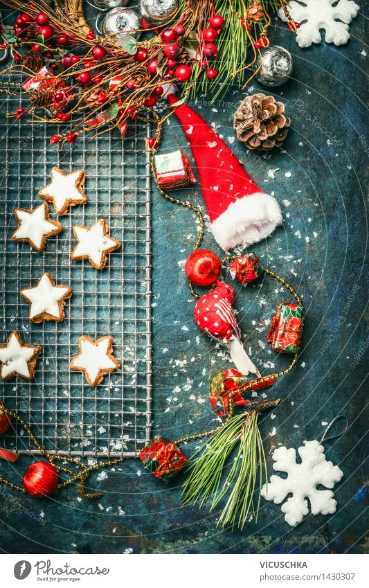 Christmas cookies and winter decoration Cake Dessert Candy Herbs and spices Nutrition Banquet Style Design Joy Winter Living or residing Flat (apartment)