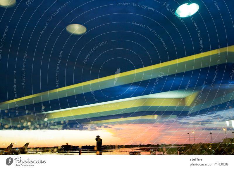 Lamp Fear Airplane Beginning Dangerous Airport War Panic UFO Extraterrestrial being Attack Runway Airfield