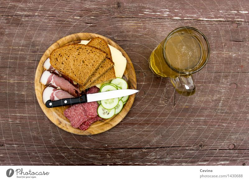BREAD TIME II Food Meat Sausage Cheese Vegetable Bread Nutrition Lunch Picnic Lemonade Knives Hiking Appetite Salami Bacon Cheese sandwich Slices of cucumber