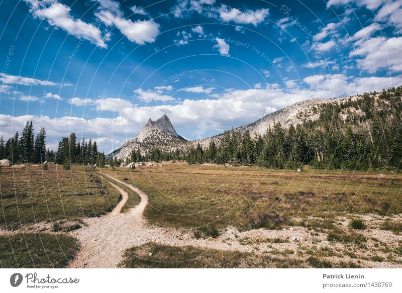 Road to nowhere Well-being Contentment Vacation & Travel Trip Adventure Far-off places Freedom Camping Mountain Hiking Environment Nature Landscape Elements Sky