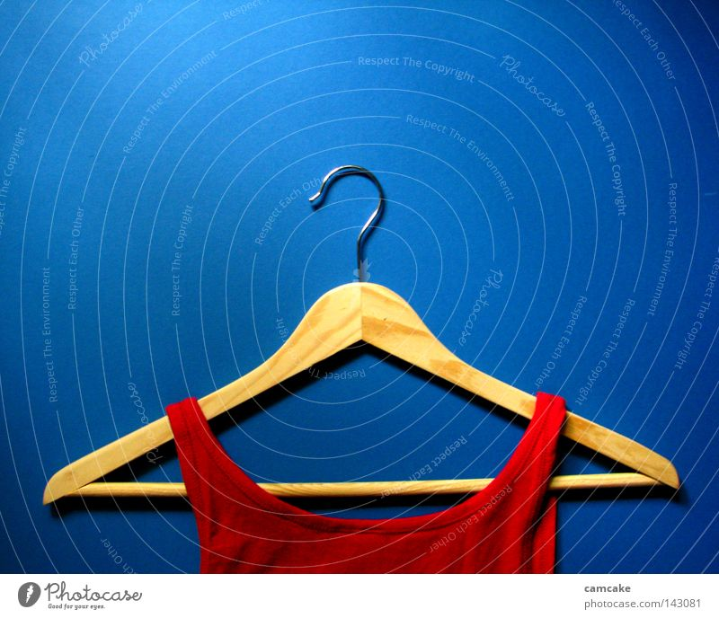 hanger one Hanger Wood Bright Simple Blue Loyalty Deep Timeless Life Dark Top Modern Tank top Cotton Red Narrow Contrast Shadow Middle Symmetry Smart