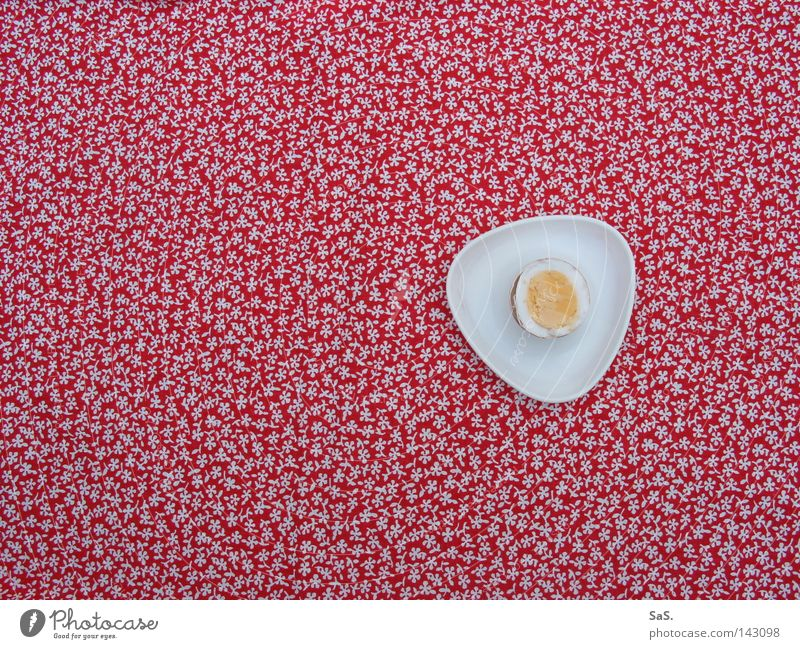 White Red Flower Loneliness Yellow Nutrition Above Table Pattern Retro Cloth Kitchen Cooking & Baking Bird's-eye view Delicious Breakfast