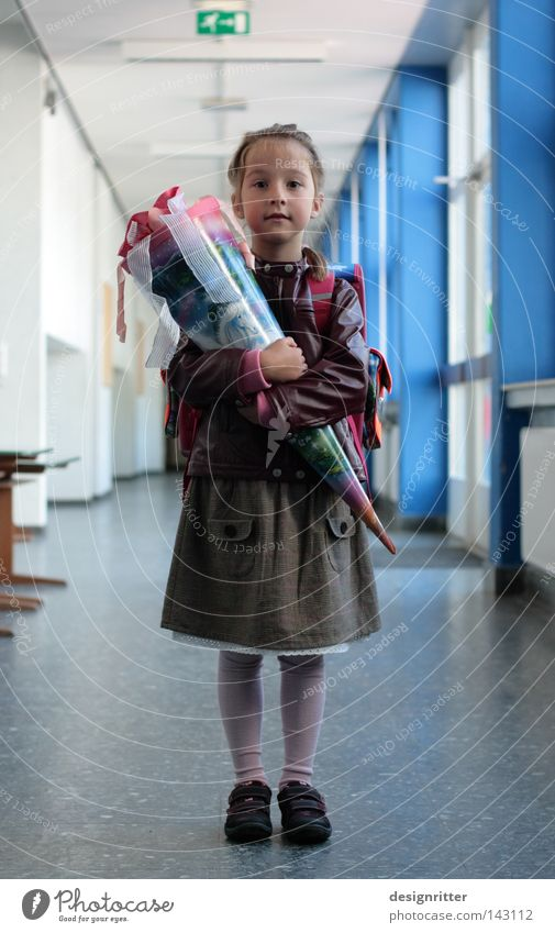 at last Feasts & Celebrations Gift School candy cone Maturing time PISA study Curiosity Expectation Beginning First day at school Schoolchild School building