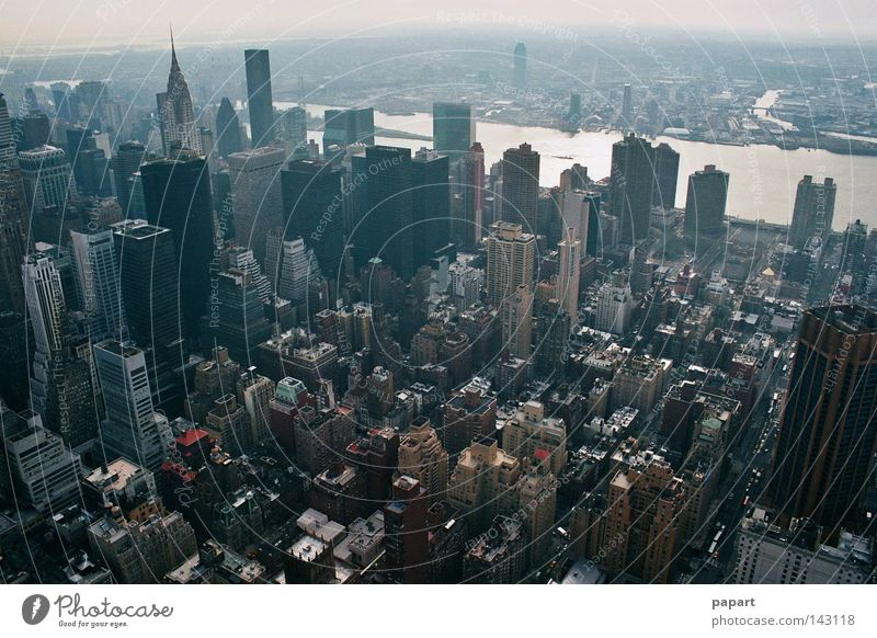 stunning New York City USA Americas American East coast Town Middle High-rise Vantage point Panorama (View) Concrete Stone Life Society Narrow Closed Height Air