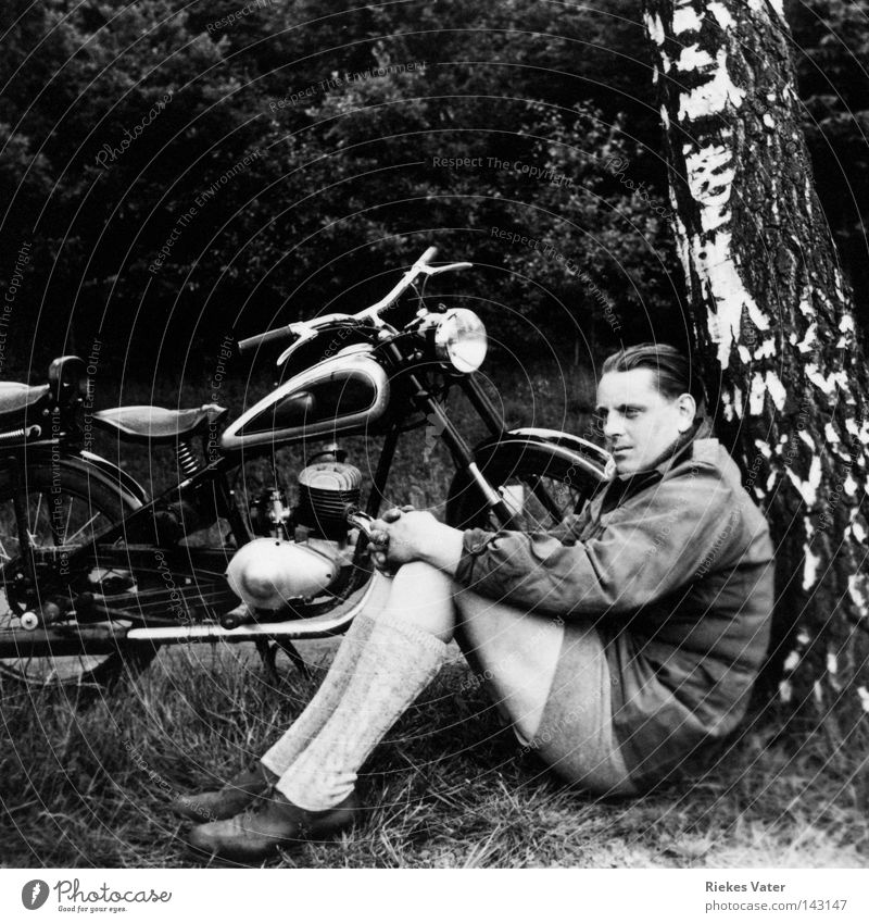 remembrance Man Motorcycle Tree Break Beginning Hope Future Strong Emergency Target Life goal Vacation & Travel Success Attractive Dream Crisis 1949 mr.rossmann