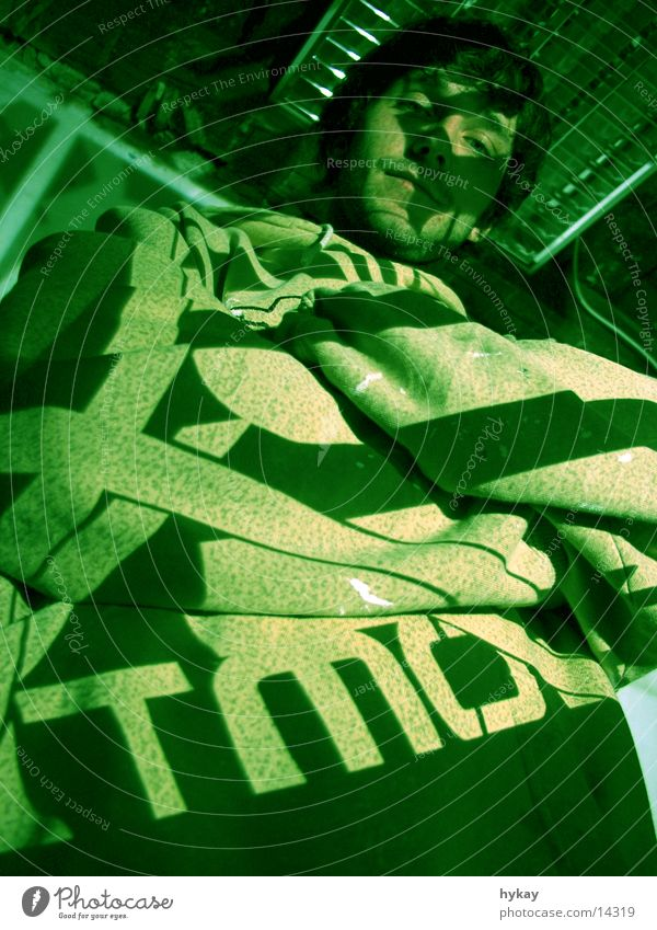 Look me in the atmo small Light Green Typography Worm's-eye view Man Shadow Moody Looking Projection