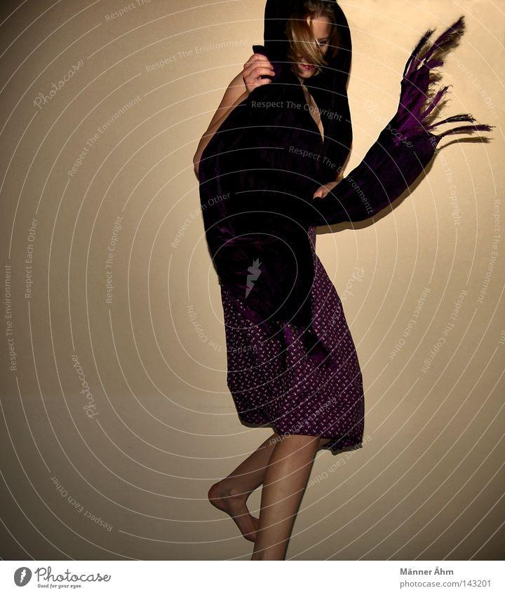 Woman Flower Feminine Wall (building) Movement Jump Party Legs Feet Power Dance Back Arm Fingers Clothing Posture