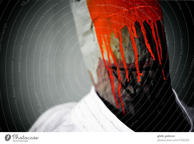 Sick Joker. Man Colour Dark Head Dye Orange Fear Background picture Dangerous Clothing Mask Trash Media Panic Social Screw