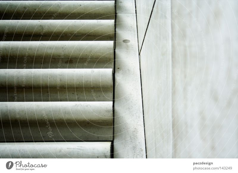 stair concrete Stairs Upward Harbor city Europe Germany Exterior shot Grief Death Concrete Cold Gray Comfortless Detail Section of image Uncomfortable
