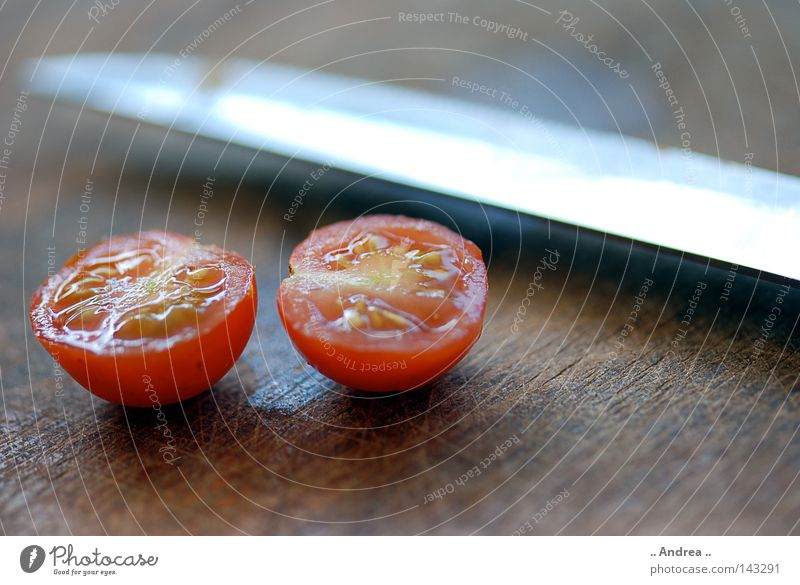 Red Eating Healthy Food Fresh Nutrition Round Cooking & Baking Kitchen Vegetable Dinner Knives Juicy Tomato Vitamin Cut