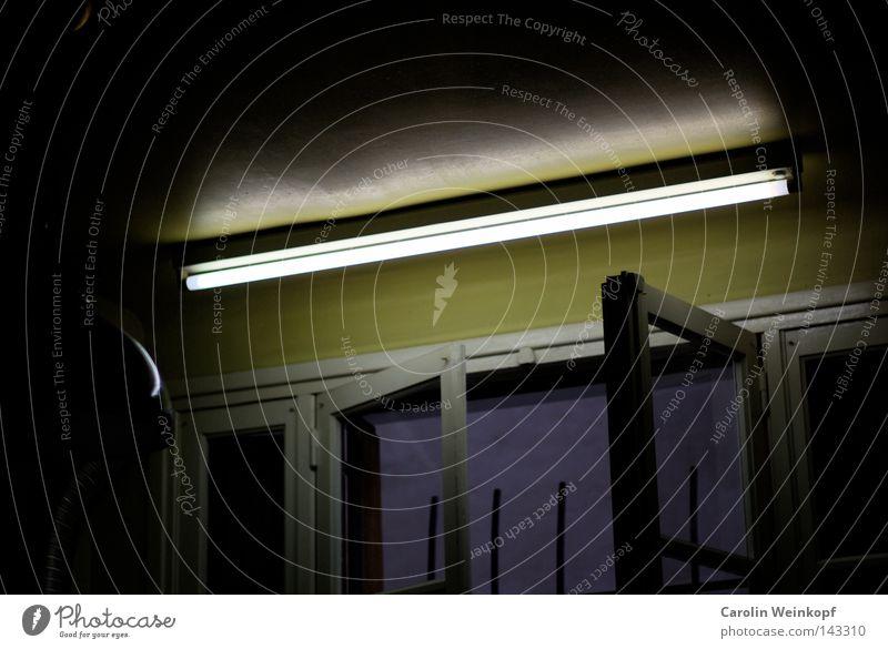 Lamp Window Kitchen Iron-pipe Neon light Grating Shutter Lampshade
