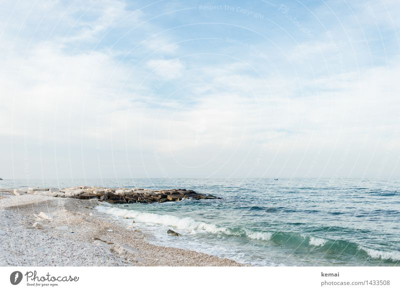 Sky Nature Vacation & Travel Blue Green Beautiful Summer Water White Ocean Landscape Clouds Calm Beach Far-off places Environment