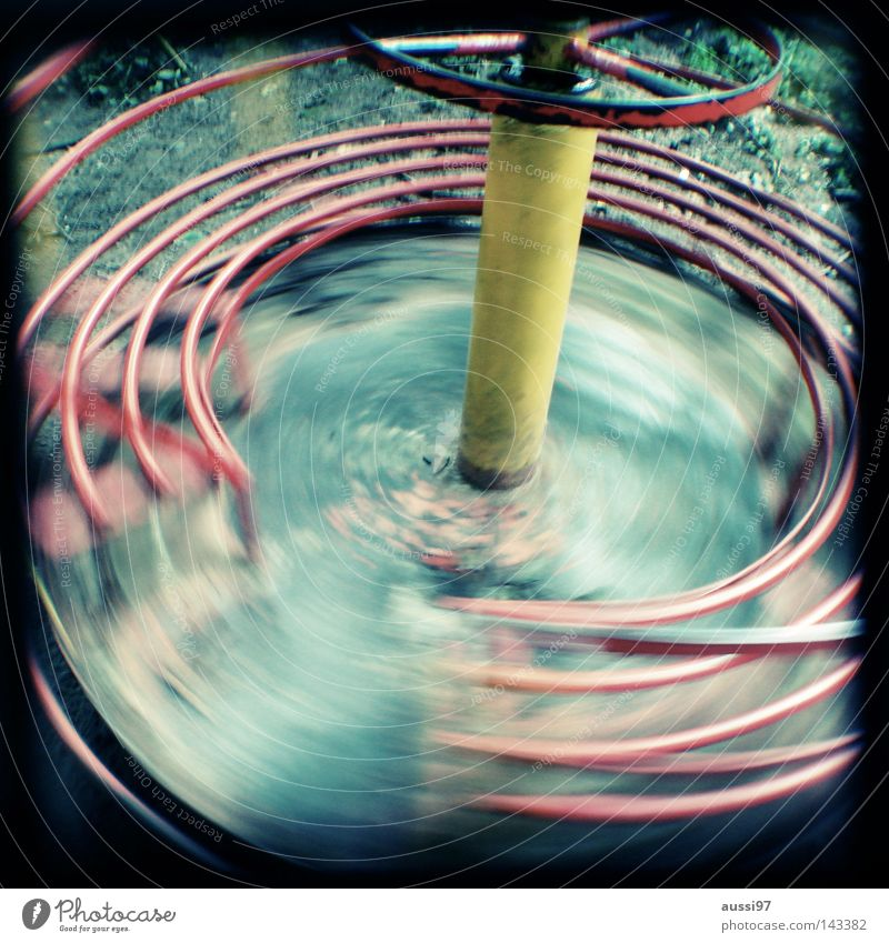 ROTATION Light Playing Playground Movement Play instinct Gymnastics Break Analog Viewfinder Bordered Frame Motion blur Toys Vertigo Contentment