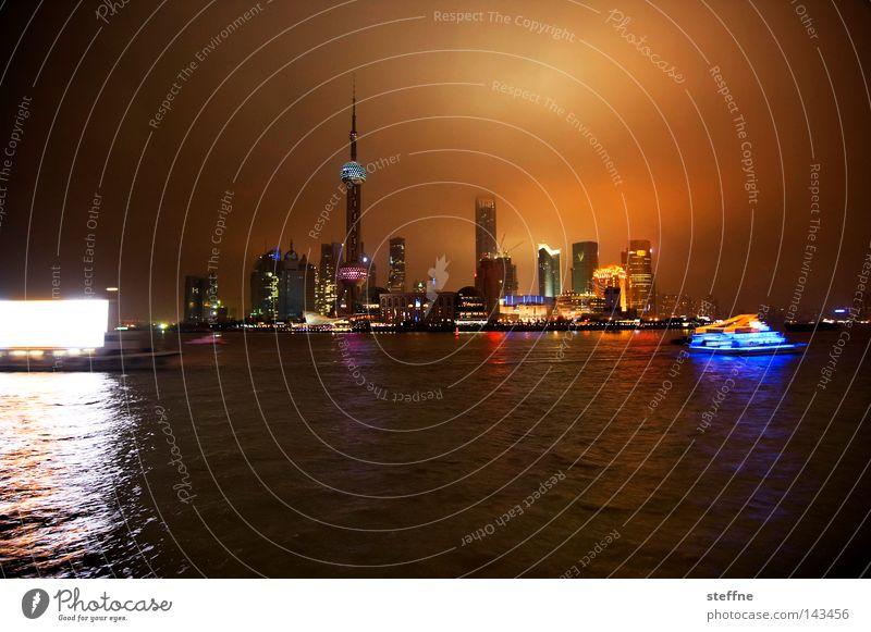 Berlin High-rise China Skyline City Berlin TV Tower Shanghai Sea of light Pu Dong